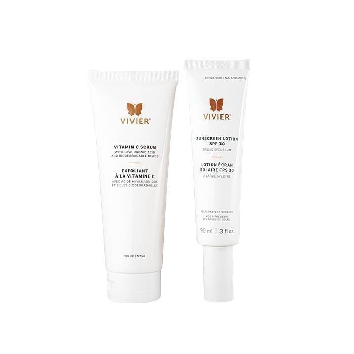 Vitamin C Scrub & Sunscreen Lotion SPF 30 Bundle